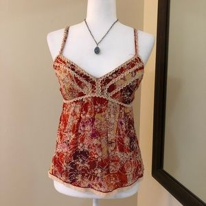 Cynthia Steffe Lace Embroidered Cami